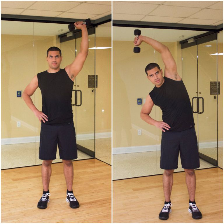 Dumbbell Overhead Side Bend