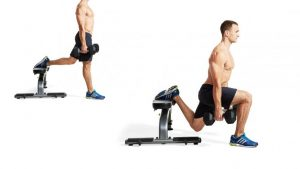 Dumbbell Split Squats และ Lunges